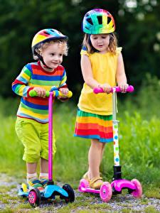 Image Little girls Boys 2 Helmet Multicolor Children