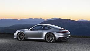 Hintergrundbilder Porsche Seitlich Silber Farbe Metallisch Coupe 911, Carrera 4s, 2019 automobil