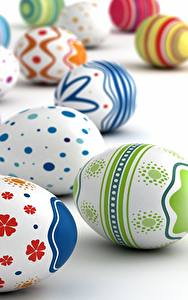 Bilder Ostern Ei Weißer hintergrund