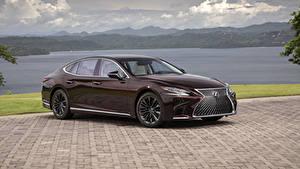 Fondos de Pantalla Lexus Color burdeos Metálico 2020 LS 500 Inspiration Series automóviles