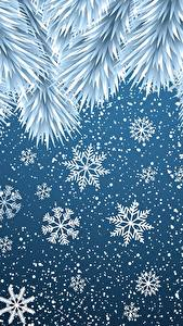 Pictures New year Snowflakes