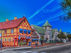 Fotos USA Gebäude Wege Kalifornien Straße HDR Solvang Städte