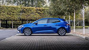Bilder Renault Blau Metallisch Seitlich  automobil