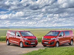 Bilder Opel 2 Rot Metallisch Ein Van 2019-20 Vivaro Autos