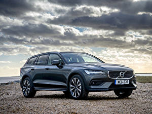 Hintergrundbilder Volvo Kombi 2019 V60 D4 Cross Country Autos