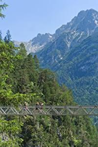 Bilder Deutschland Gebirge Brücke Bayern Mittenwald, Gorge Of Leutasch