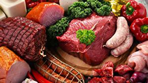 Fotos Fleischwaren Schinken Frankfurter Würstel Wurst Peperone Gemüse