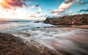 Bilder Israel Küste Wasserwelle Himmel Wolke Haifa Natur
