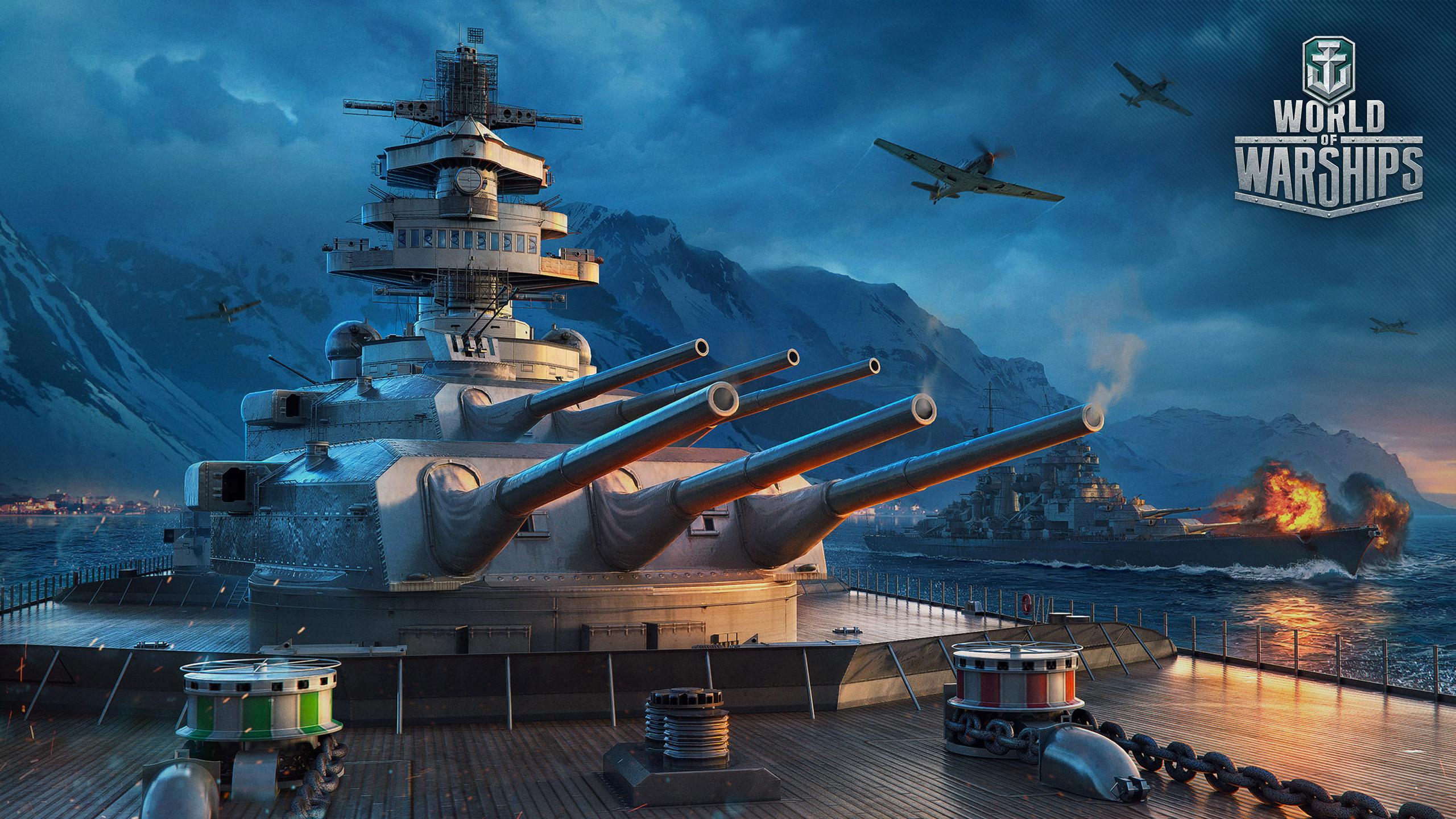 Desktop Wallpapers World Of Warship German Ships vdeo game 2560x1440