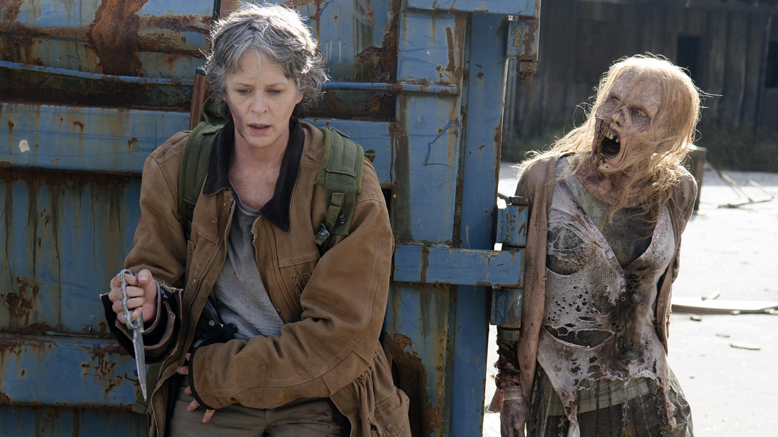 Image The Walking Dead Tv Zombie Melissa Mcbride Season 6 2560x1440