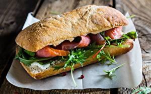 Fotos Großansicht Sandwich Fische - Lebensmittel Lebensmittel
