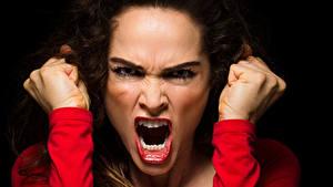 Fotos Hand Schreien Gesicht Mädchens