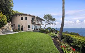 Bilder Vereinigte Staaten Gebäude Eigenheim Design Rasen Laguna Beach