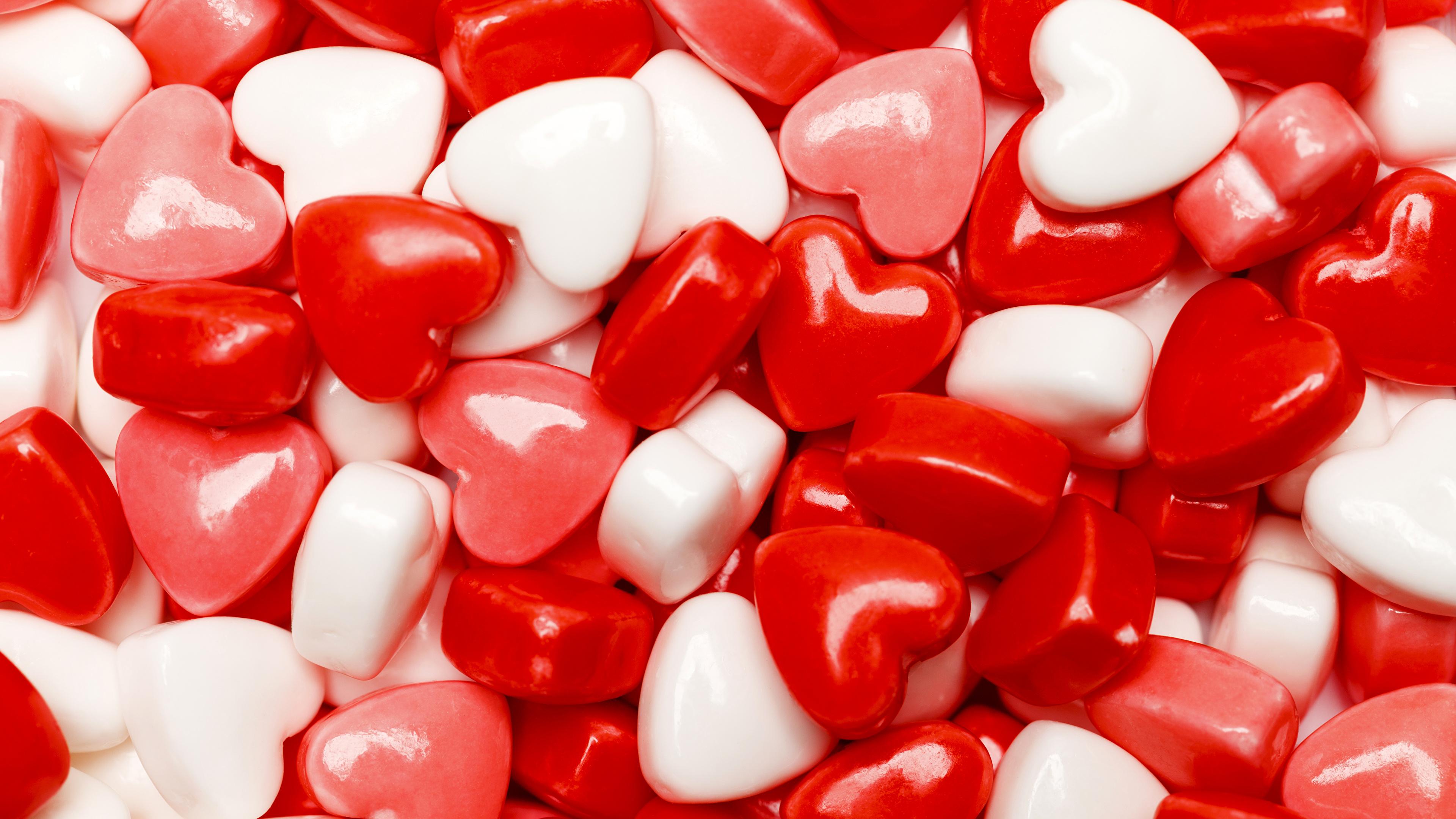 Bilder Alla hjärtans dag Hjärta Klubbor Mat Sötsaker 3840x2160 godisklubba söt mat