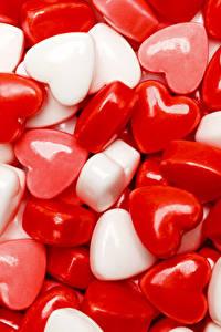 Papéis de parede Dia dos Namorados Doçarias Pirulito Coração Alimentos