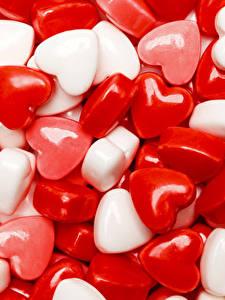 Papel de Parede Desktop Dia dos Namorados Doçarias Pirulito Coração Alimentos