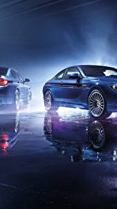 Wallpaper BMW Light Blue Reflection Alpine Cars