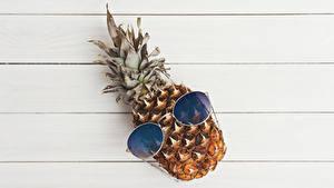 Fotos Ananas Bretter Brille das Essen