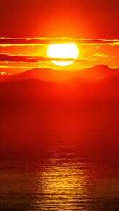 Papéis de parede Amanheceres e entardeceres Montanhas Fotografia de paisagem Sol Naturaleza