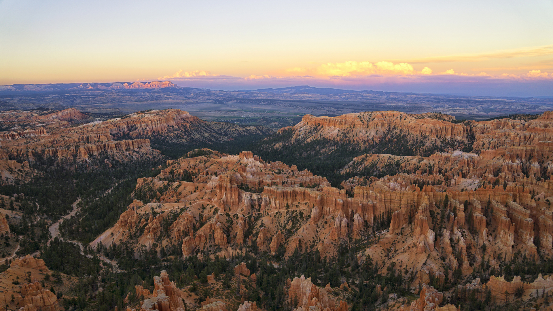 Picture Usa Bryce Canyon National Park Crag Nature Park 1920x1080
