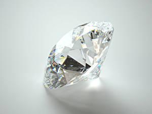 Photo Diamond cut Closeup Gray background
