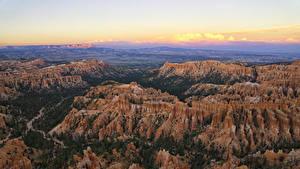 Bilder Vereinigte Staaten Park Landschaftsfotografie Felsen Von oben Canyon Bryce Canyon National Park Natur