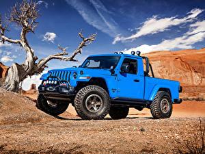 Fotos Jeep Hellblau Pick-up 2019 J6 auto