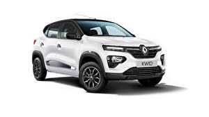 Hintergrundbilder Renault Crossover Weiß Metallisch Kwid Ultra, ZA-spec, 2020 automobil
