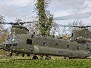 Hintergrundbilder Boeing Hubschrauber Vertol CH-47 HC.4 Chinook ZA713-14