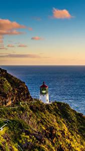 Hintergrundbilder Küste Leuchtturm Vereinigte Staaten Hawaii Felsen Laubmoose Lighthouse Hike Natur