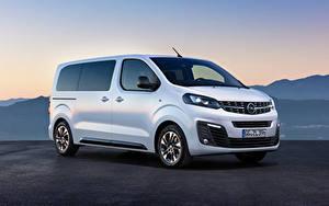 Fotos Opel Ein Van Weiß 2019 Zafira Life Medium auto