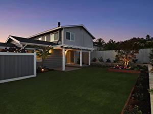 Hintergrundbilder Vereinigte Staaten Gebäude Abend Kalifornien Herrenhaus Design Rasen Encinitas Städte