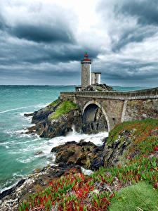 Hintergrundbilder Frankreich Küste Leuchtturm Himmel Phare du Petit Minou Natur