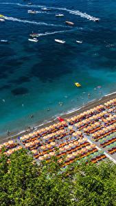 Fotos Positano Italien Küste Strände Von oben