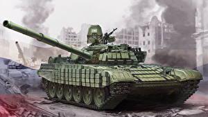 Fotos Panzer Gezeichnet T-72 Russische T-72B1 Heer