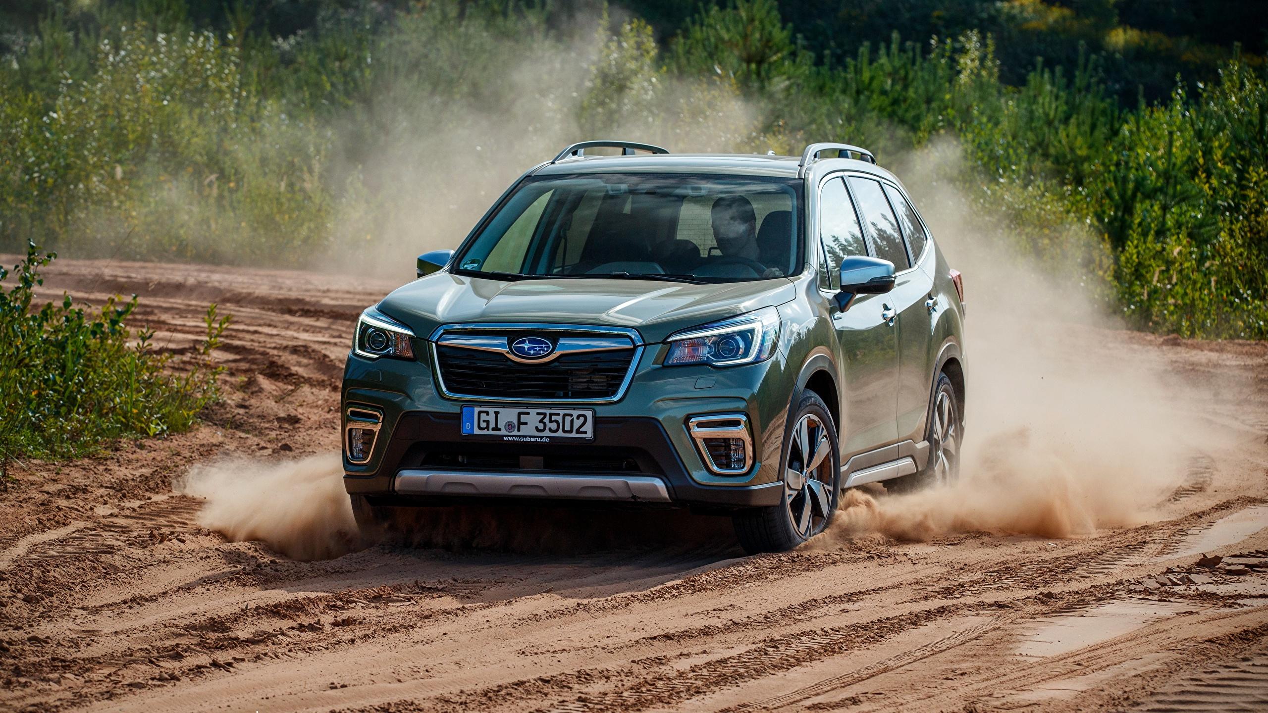 2560x1440 Subaru Forester, 2019 Movimento carro, automóvel, automóveis, velocidade Carros
