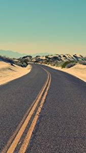 Fotos Wüste Straße Asphalt Horizont