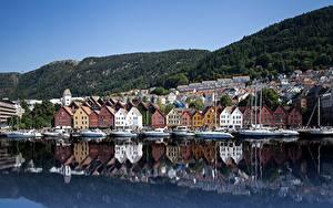 Fotos Haus Küste Norwegen Bergen Bryggen