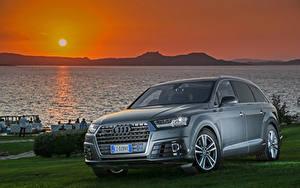 Bilder Sonnenaufgänge und Sonnenuntergänge Audi Sonne 2015 S line TDI quattro automobil