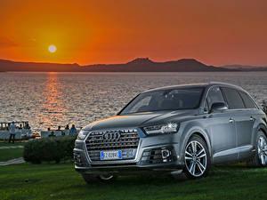 Bilder Sonnenaufgänge und Sonnenuntergänge Audi Sonne 2015 S line TDI quattro Autos