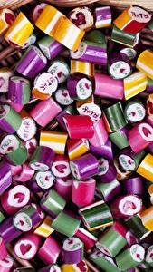 Fotos Süßigkeiten Bonbon Viel candy caramel