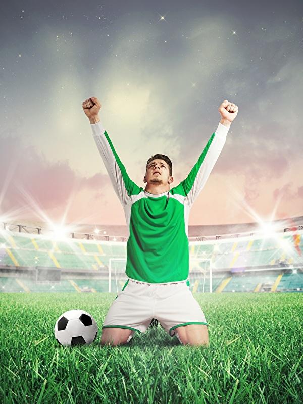 Fonds Decran 600x800 Football Homme Main Uniforme Herbe