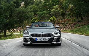 Bureaubladachtergronden BMW Vooraanzicht Roadster Rijdende Z4 M40i 2019 G29 auto's