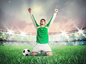 Bilder Fußball Mann Hand Uniform Gras Ball Stadion Sport