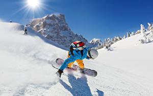 Fotos Winter Snowboard Mann Schnee Sonne Sport