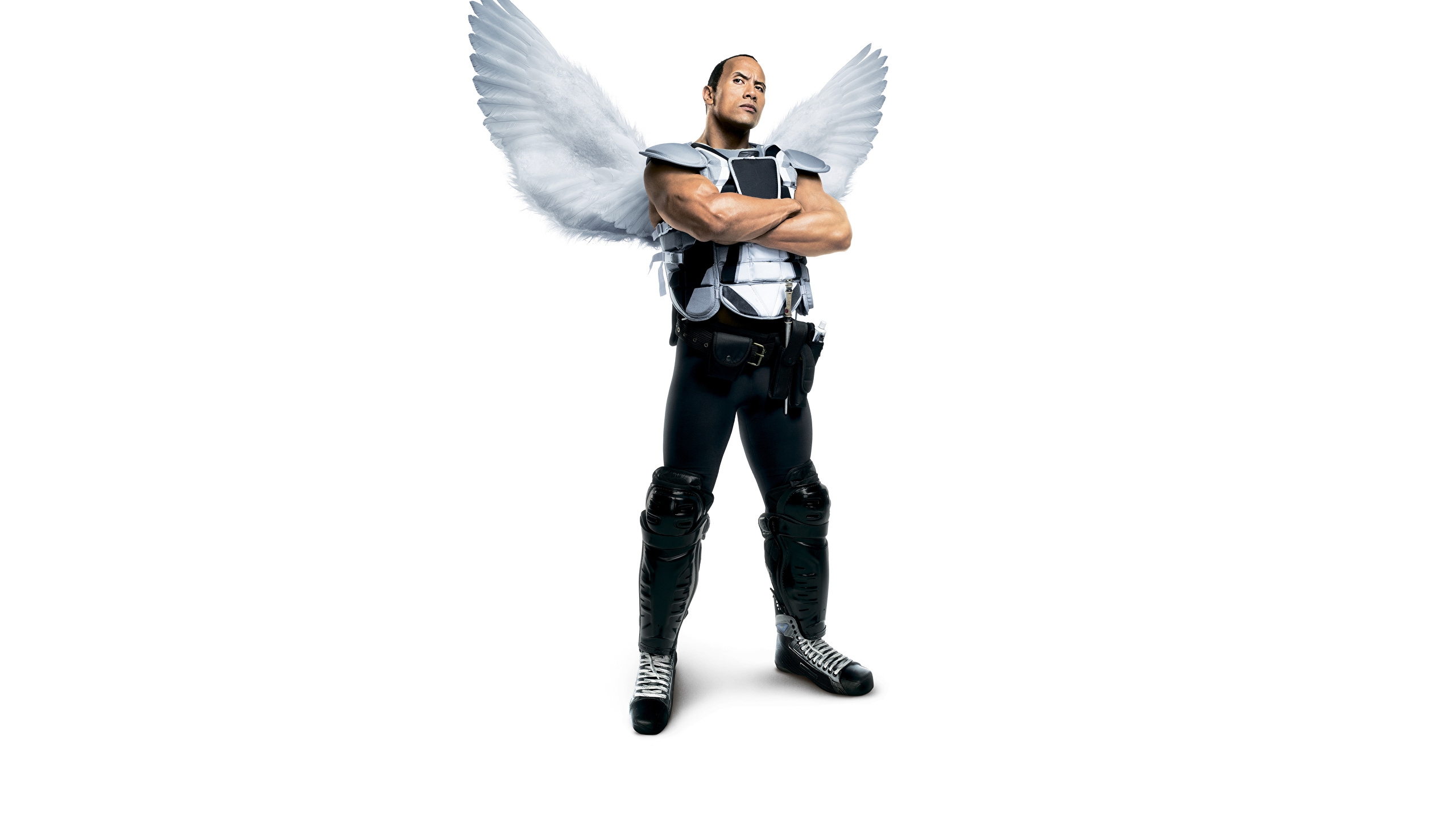 Wallpaper Dwayne Johnson Man Wings Tooth Fairy Movies 2560x1440