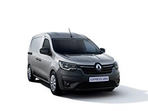 Fotos Renault Ein Van Grau Metallisch Weißer hintergrund Express Van, 2021 automobil