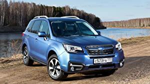 Hintergrundbilder Subaru Hellblau 2016 Forester 2.5i Autos