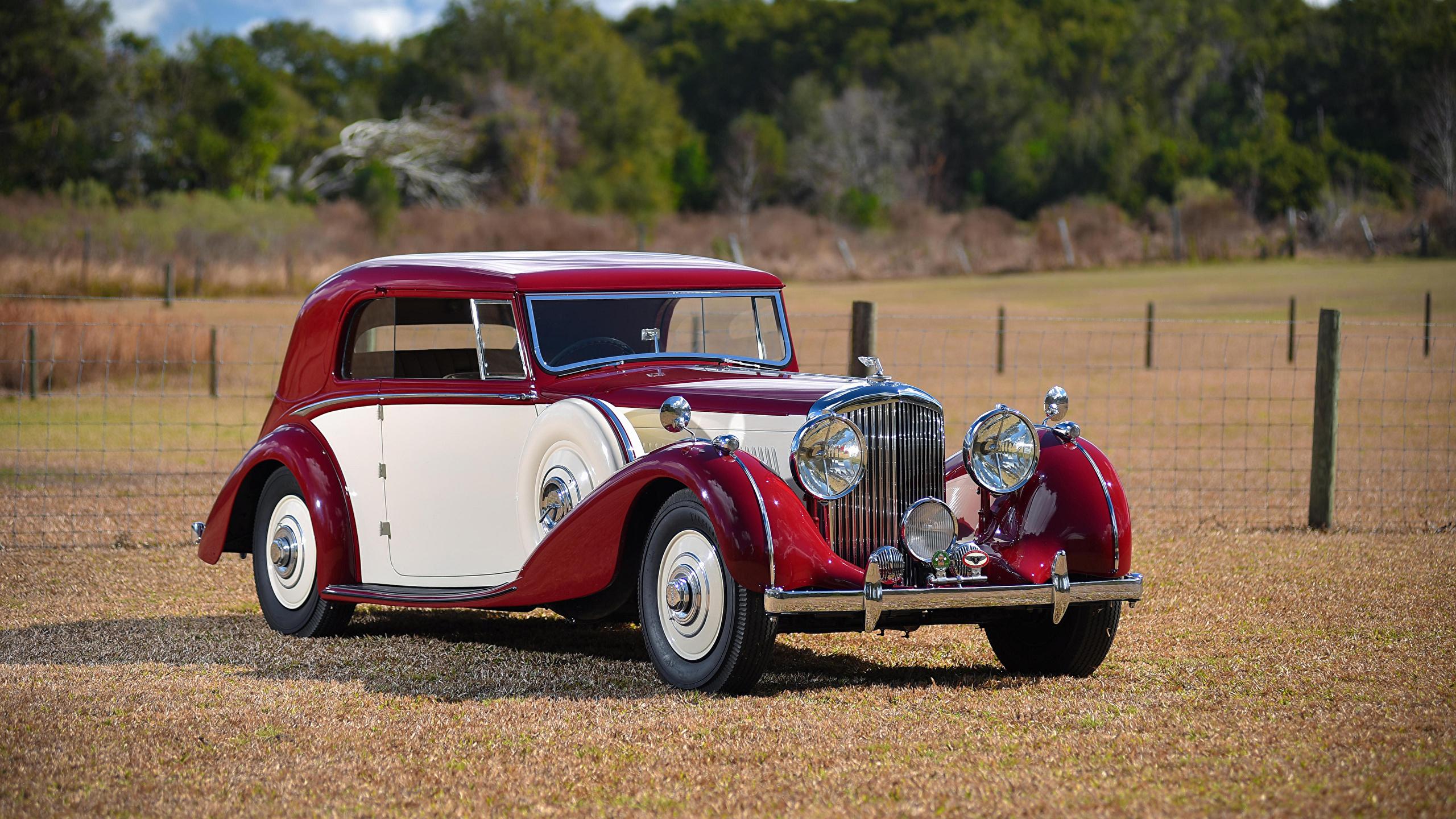 Photo Bentley Vintage Metallic Automobile 2560x1440