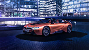 Fotos BMW Roadster Orange 2018 i8 Roadster